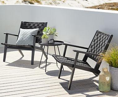 2 Loungestoelen Met Tafeltje.Lounge Tuinmeubelen Goedkope Loungebank Of Loungestoel Van