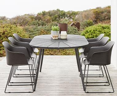 Wicker Eettafel Set Met 8 Stoelen En 4 Krukken Zwart.Tuinset Kopen Mega Aanbod Tuinsets Shop Je Op Jysk Nl
